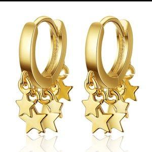 Small Dainty Minimalist Star Earring Huggies Hoops